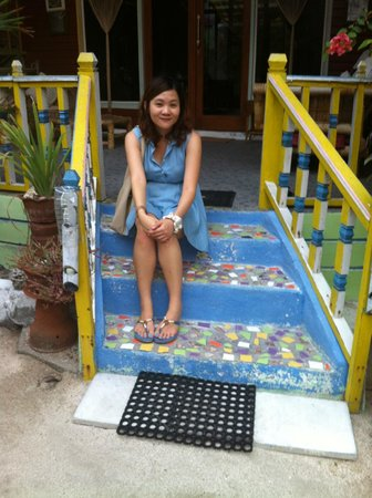 Villa Casa Mio: Steps to our Tropical Smile room!