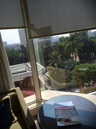 The Leela Mumbai : View from Room to Entrance