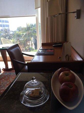 The Leela Mumbai : Work area + View from Room