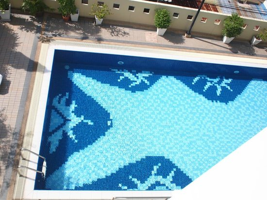 Area Residence Sathorn: Swimming Pool, Looking Down from our room's window