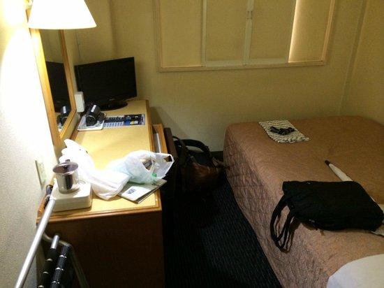 Kawasaki Daiichi Hotel Mizonokuchi : 狭めのお部屋