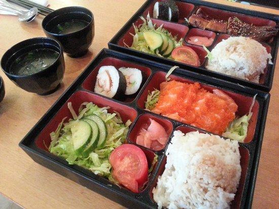 bento boxes picture of osaka sushi victoria park tripadvisor. Black Bedroom Furniture Sets. Home Design Ideas