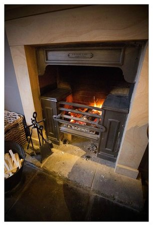 The Farmers Arms: Very welcoming log fire