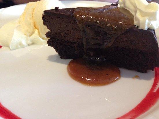 Voodooz Cajun Kitchen : Choc mud cake. It just melted.
