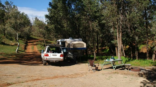 Skytrek & Willow Springs Station: Our camp with a fire place provided