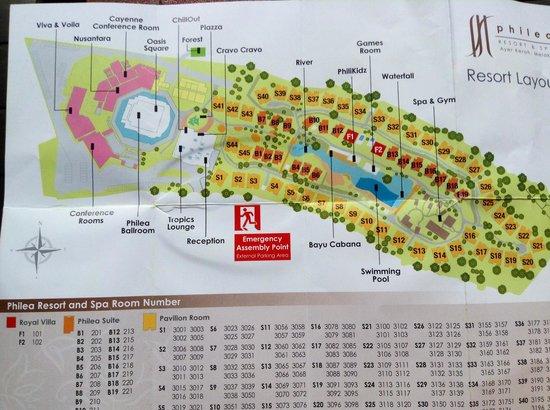 Philea Resort & Spa: Resort map