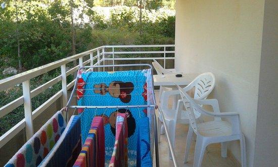 Aparthotel SunClub Salou: Spacious balconies