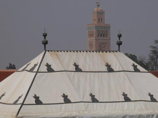 Riad Les Bougainvilliers : vue de la terrasse