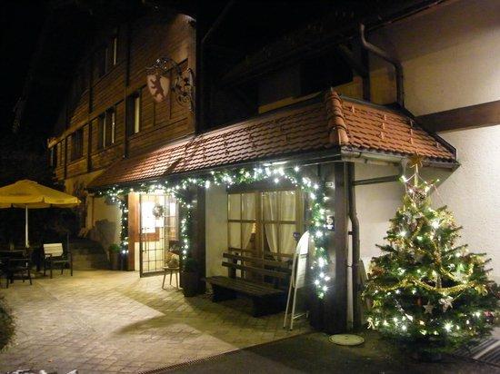 Hotel Bellevue Bären: Winter Entrance