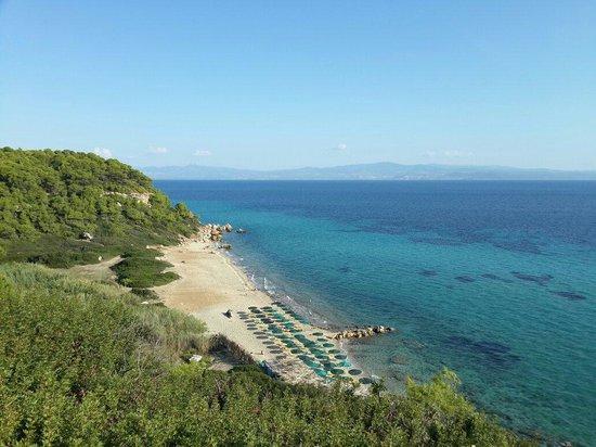 Aristoteles Beach Hotel : Пляж