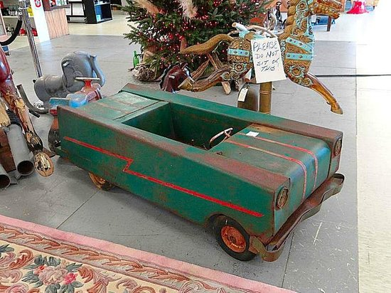 Granddaddy's Antique Mall : pedal car I've never seen before