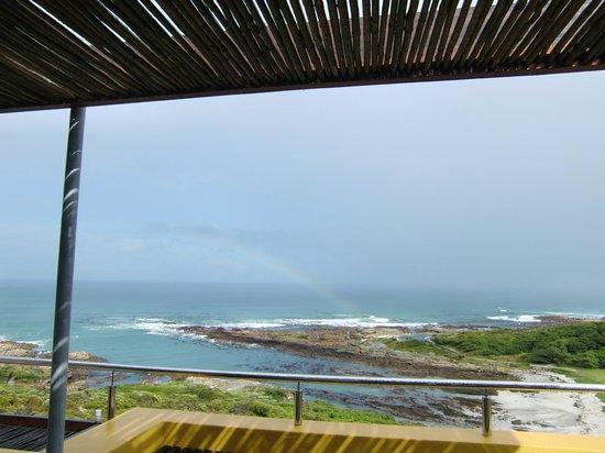 Crayfish Lodge Sea & Country Guest House: Aussicht von der Terrasse
