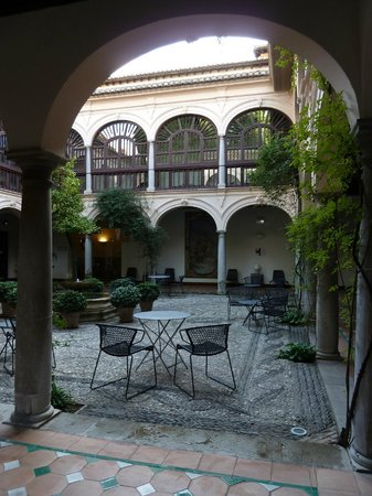 Parador de Granada: It was too cold to eat here - but it would be lovely in summer