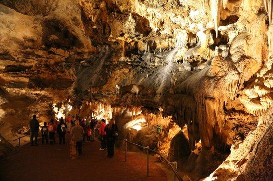 Luray Caverns: Das Licht, bringt die Farben zum leuchten