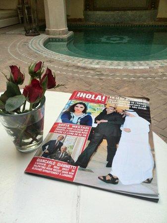 Riad Ambre et Epices: En el patio