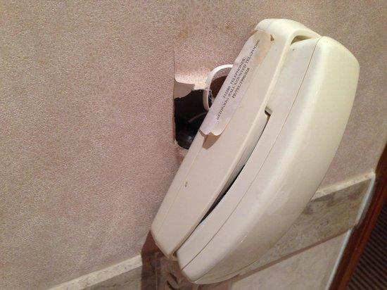 Dorsett Grand Labuan: Room phone hanging off the wall