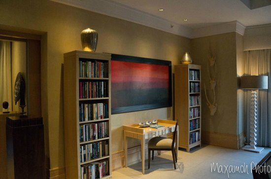Saxon Hotel, Villas and Spa: Presidential Suite Art and Bookshelves