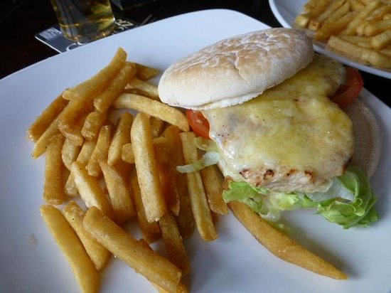 Black Horse: Chicken and cheese burger