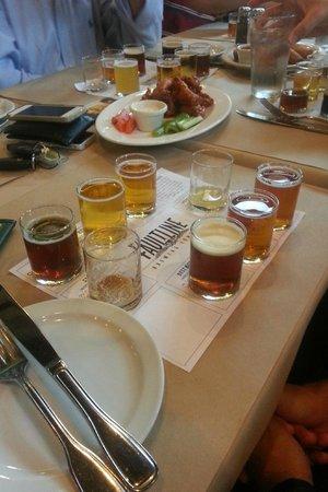 Faultline Brewing Company: Degustação de cervejas