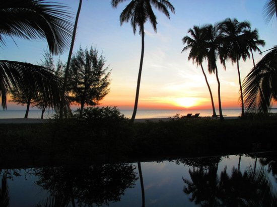 The Residence Zanzibar : sunset view from the terras of your villa