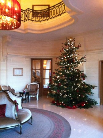 Tiara Chateau Hotel Mont Royal Chantilly : Le sapin devant le restaurant