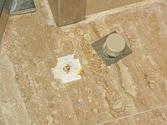 Grupotel Playa Camp de Mar: Broken door stop to bathroom