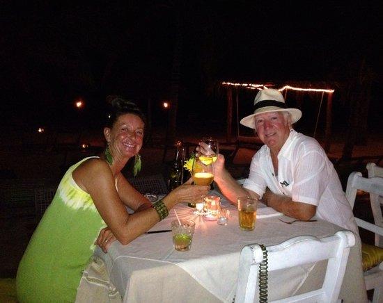 Mandarina Restaurant & Beach club by Casa Las Tortugas: Anniversary Dinner in Paradise