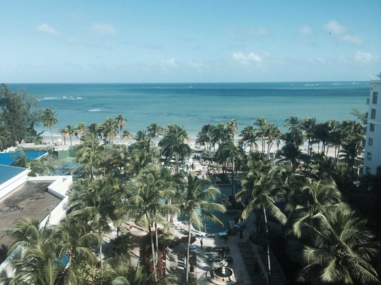 The Ritz-Carlton, San Juan: View from an upgraded ocean view room