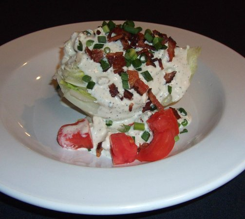 Placida Grill: Our Classic Wedge Salad with a Maytag blue cheese dressing and Nueskie's Bacon
