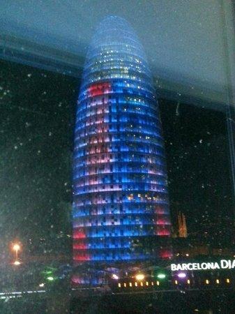 Novotel Barcelona City: Torre Agbar view