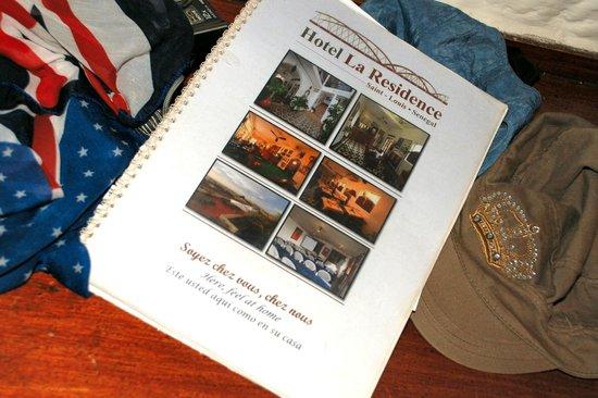 Hotel La Residence: Depliant dell'Hotel