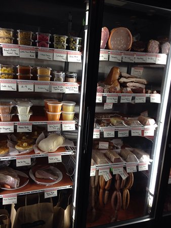 The Butcher Shop : Meat cooler and market!