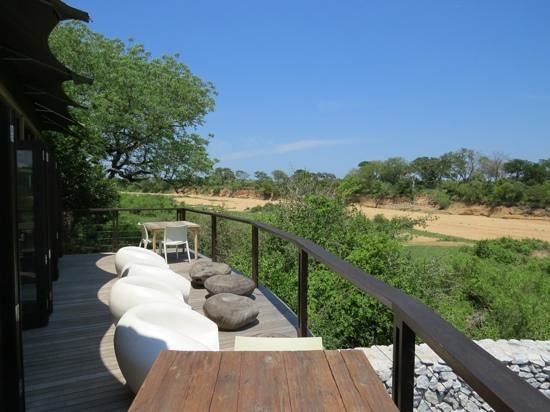 andBeyond Ngala Tented Camp : Aussicht vom Deck