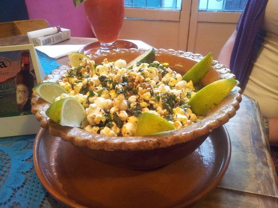 Kalakitas Mexican Food n' Drinks: Coriander popcorn!