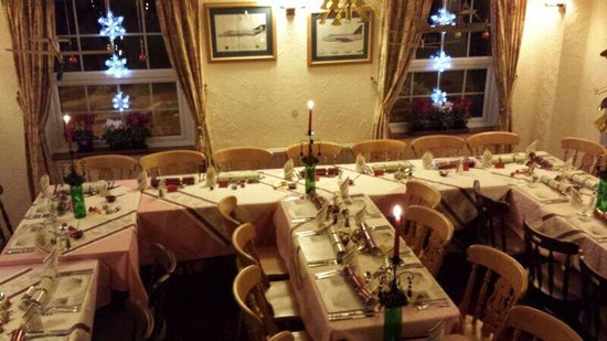 The Old Inn: All set for the South Hams Flying Club Christmas Dinner