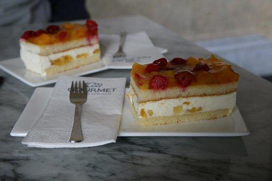 Muséum d'histoire naturelle de Vienne : Heerlijk gebak in het restaurant