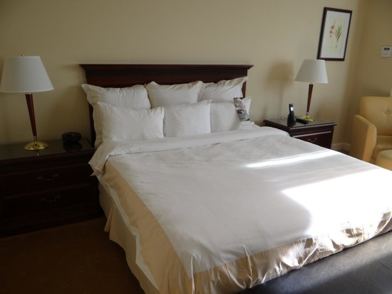 Miami Marriott Dadeland: Big comfy bed in reasonably sized room
