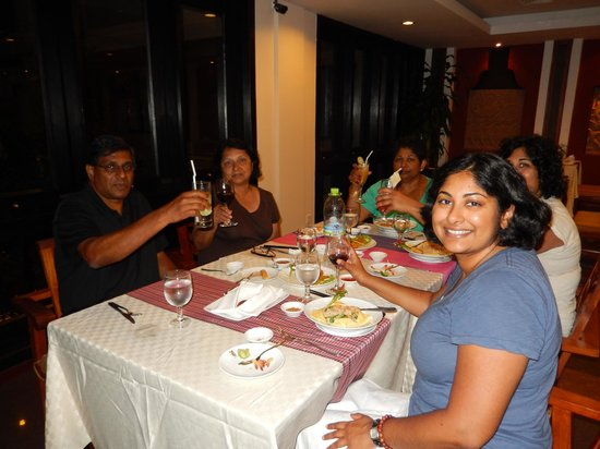dining at the hotel restaurant Angkor miracle resort & spa