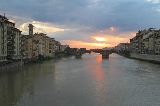 Italy Cruiser Bike Tours: Sunset in Florence