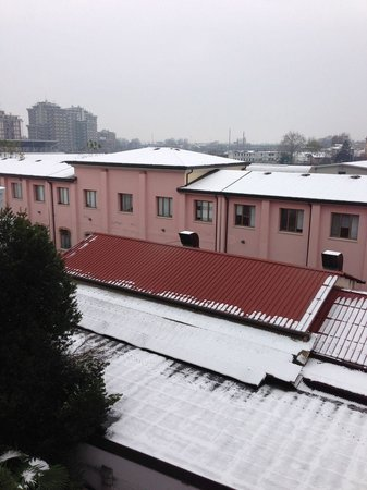 Hotel Ambasciata: View from our room.  It snowed lightly one night.