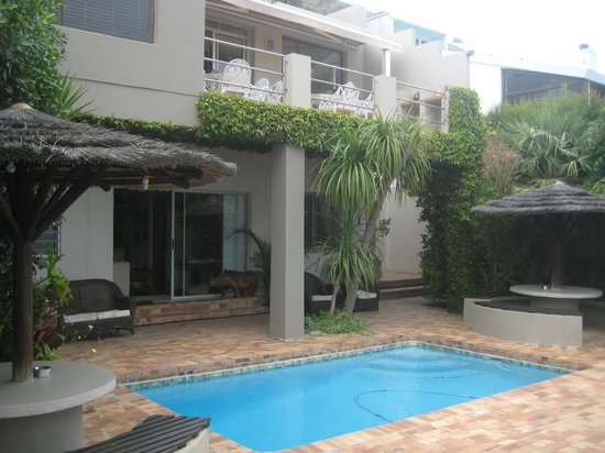 Bluegum Hill Guesthouse and Apartments: terrasse, piscine