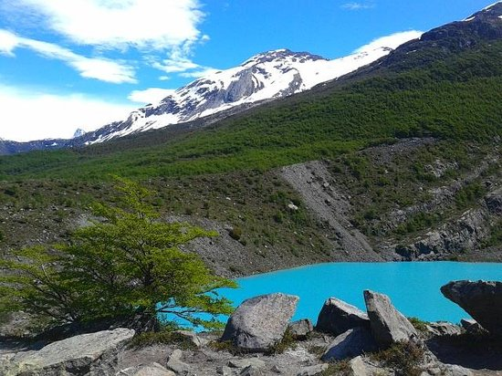 Hotel Cumbres Nevadas: glacial lake visited with organised bike trip from hotel