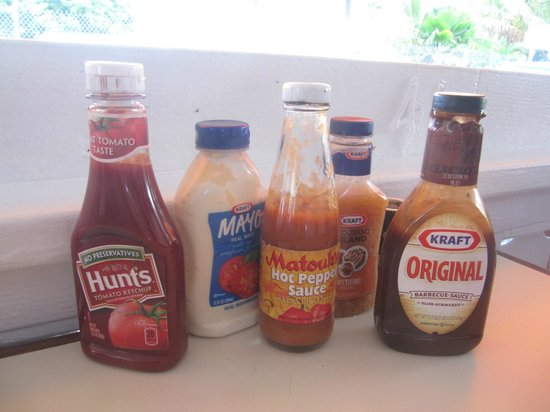 Talk of the Town : condiments on the table