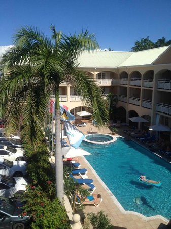 Sandals Inn: View from room 321