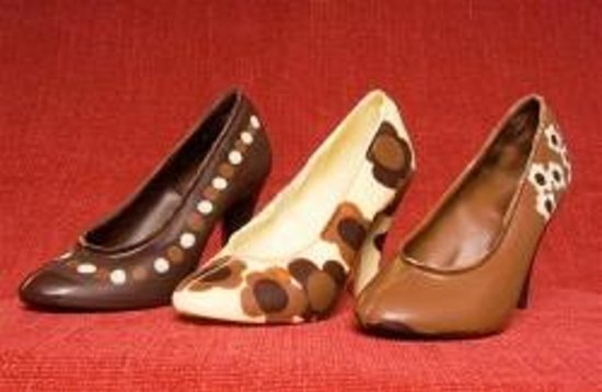 Inspired Chocolate: Chocolate Shoes from The Little Chocolate Shop, Leyburn