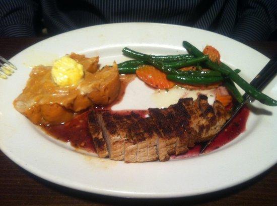 Taprock Northwest Grill: Flat-iron pork with excellent presentation