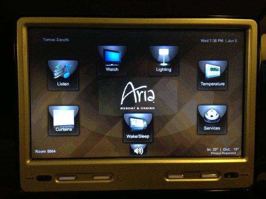ARIA Resort & Casino: domotica in camera