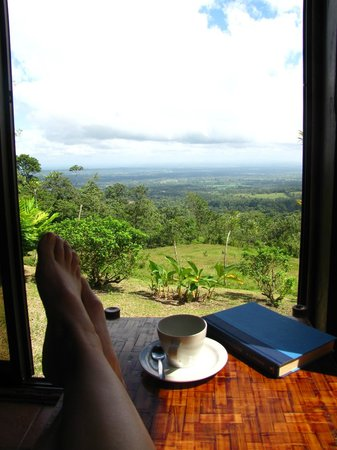 GreenLagoon Wellbeing Resort: Morning coffee view from the Villa