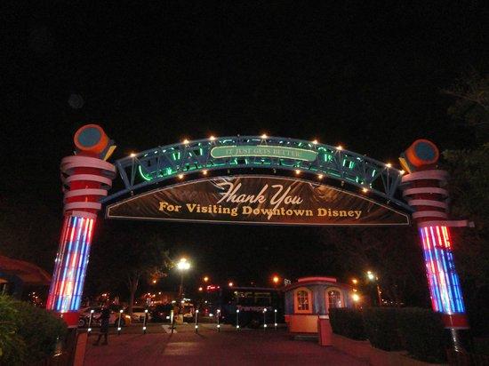 Disney Springs: Saída do Downtown Disney