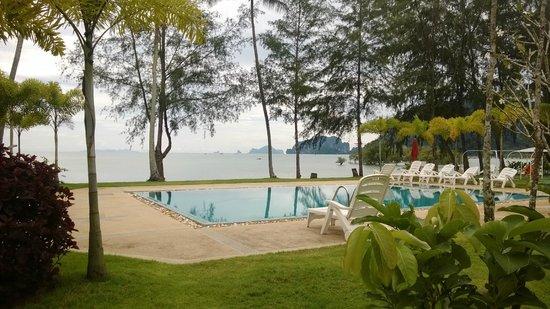 Rimlay Villas: Pool und Meerblick